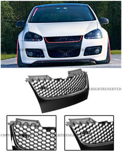 For 06 09 Vw Jetta Gti Mk5 Badge less Gti Style Front Bumper Mesh Grille Grill