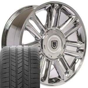 20 Escalade Style Wheels Tires Chrome 20x9 Rims Fit Cadillac Chevrolet Gmc Oew