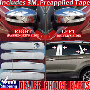 2013 2016 Ford Escape Chrome Door Handle Covers Nokh Mirrors Pillar Posts Nokpad