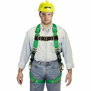 Full Body Fall Safety Harness Miller Duraflex Web Python P950ugn Universal Size