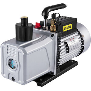 2 stage High Performance Rotary Vane Deep Vacuum Pump 12cfm 1hp Hvac Field Tool