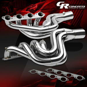 For Chevy Big Block 496 V Drive Jet Boat Water Injected Stainless Exhaust Header
