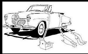 Studebaker Sedan 1947 1952 Front Middle rear Body Support 6 Piece Set