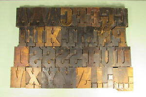 Tuscan Letterpress Wood Type Blocks 3 1 4 Inch Caps Punctuation