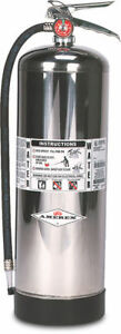 Amerex Water Stored Pressure Fire Extinguisher Model 240 2 1 2 Gal hose 110ps