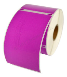 12 Rolls Of 300 Purple Shipping Labels For Dymo Labelwriters 30256