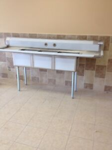 3 Three Compartment Commercial Stainless Steel Sink 90 X 23 5 G