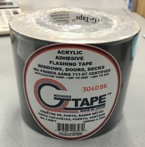Nichigo Gtape 3040bk Black 4 X 65 Flashing Tape Waterproof