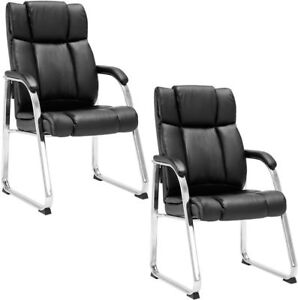 Set Of 2 Pu Conference High Back Office Chair
