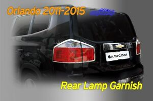 Rear Lamp Garnish Chrome Molding Cover 4p Silver C404 For Chevy Orlando 2011 16