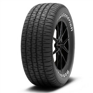 2 New P235 60r15 Bf Goodrich Radial T A 98s White Letter Tires