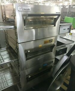 Lincoln 1132 Impinger Triple Stack Conveyor Pizza Sandwich Oven