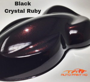 Black Crystal Ruby Gallon Single Stage Acrylic Car Vehicle Auto Paint Kit