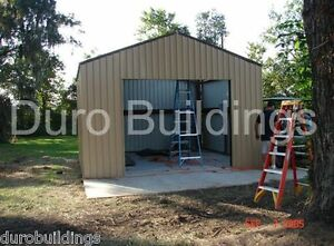 Durobeam Steel 24x24x15 Metal I beam Prefab Garage Building Kit Workshop Direct