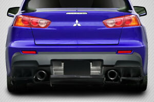 2008 2015 Mitsubishi Lancer Evolution 10 Carbon Vr s Rear Diffuser 1 Pc 113561