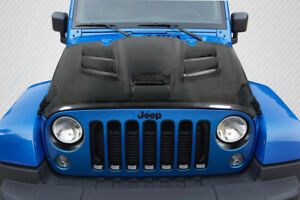 2007 2016 Jeep Wrangler Carbon Creations Viper Look Hood 1 Piece 113645