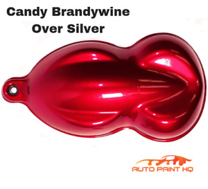 Candy Brandywine Over Silver Basecoat Tri coat Gallon Car Vehicle Auto Paint Kit