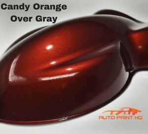 Candy Orange Over Gray Basecoat Tri Coat Gallon Car Vehicle Auto Paint Kit