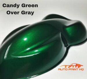 Candy Green Over Gray Basecoat Tri Coat Gallon Car Vehicle Auto Paint Kit