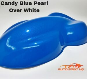 Candy Pearl Blue Over White Basecoat Tri Coat Gallon Car Vehicle Auto Paint Kit