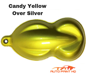 Candy Yellow Over Silver Basecoat Quart Car Vehicle Motorcycle Auto Paint Kit