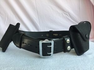 Boston Leather Officer Security Safety Police Rig Leather W36 Belt Keepers
