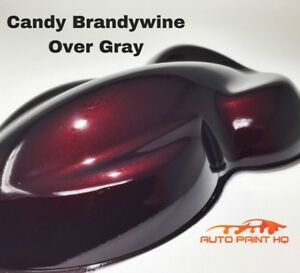Candy Brandywine Over Gray Basecoat Quart Car Vehicle Motorcycle Auto Paint Kit