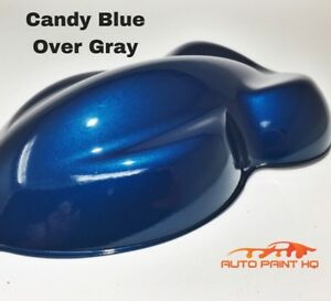 Candy Blue Over Gray Basecoat Quart Car Vehicle Motorcycle Auto Paint Kit