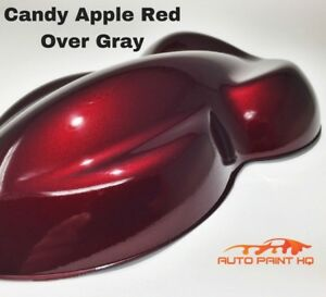 Candy Apple Red Over Gray Basecoat Quart Car Vehicle Motorcycle Auto Paint Kit