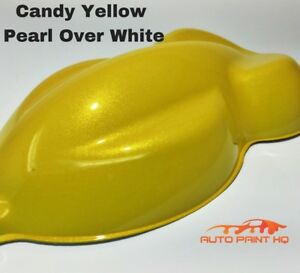 Candy Pearl Yellow Over White Basecoat Quart Car Vehicle Motorcycle Paint Kit