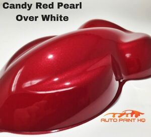 Candy Pearl Red Over White Basecoat Quart Car Vehicle Motorcycle Paint Kit
