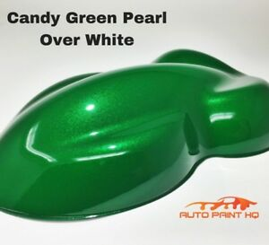 Candy Pearl Green Over White Basecoat Quart Car Vehicle Motorcycle Paint Kit