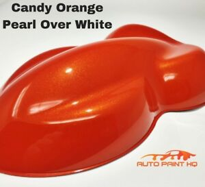 Candy Pearl Orange Over White Basecoat Quart Car Vehicle Motorcycle Paint Kit