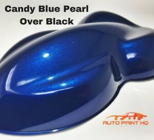Candy Pearl Blue Over Black Basecoat Quart Car Vehicle Motorcycle Paint Kit
