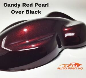 Candy Pearl Red Over Black Basecoat Quart Car Vehicle Motorcycle Paint Kit