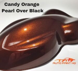 Candy Pearl Orange Over Black Basecoat Quart Car Vehicle Motorcycle Paint Kit