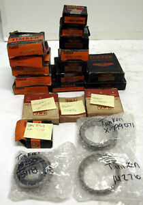Lot Of Timken Bearings 21 Total New Old Stock