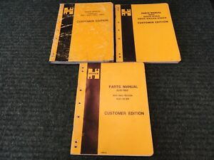 Hyster Hyster Forklift Parts Manual book Lot X 3 3 Different Parts Books
