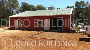 Durobeam Steel 50x60x17 Metal Rigid Frame Clear Span Garage Shop Building Direct