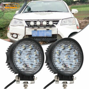 2x 4inch 54w Round Led Work Light Bar Flood Offroad Driving Fog Lamp 12v 24v