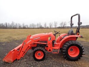 2015 Kubota L3901 Tractor W Front Loader 4wd Hydro R4 Tires 39hp 215 Hours