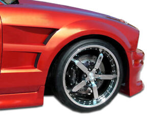 05 09 Ford Mustang Duraflex Gt Concept Fenders 2pc 104386