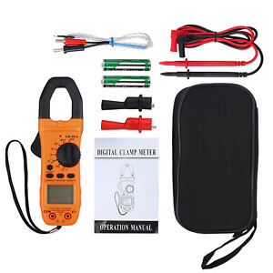 New 6000 Counts Digital Clamp Meter Tester Ac dc Auto Range Multimeter True Trms