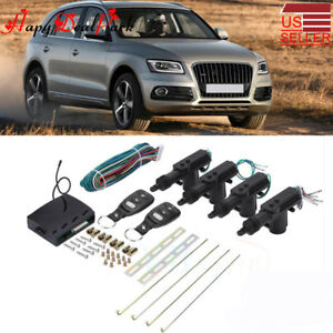 4 Door Power Central Lock Kit W 2 Keyless Entry Car Remote Control Conversion Us