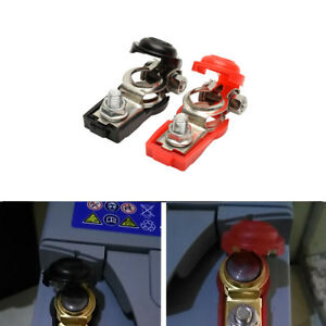2xcar Battery Terminal Connector Clamp Clips Negative Positive For For Auto Car