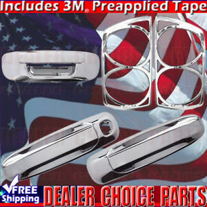 2007 2008 Dodge Ram 1500 Chrome Door Handle Covers Nopkh tailgate taillightbezel