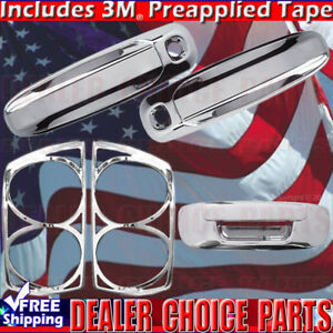 For 2007 2008 Dodge Ram 1500 Chrome Door Handle Covers tailgate taillightbezel