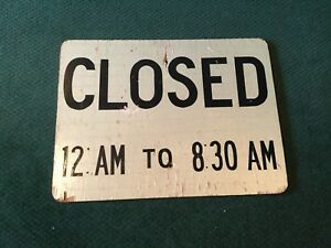 Vintage Wood Closed 12 Am To 8 30 Am Sign 24 X 18 X 1 3 Black Letters
