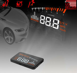 Hud Projector Head Up Display Overspeed Warning Fuel Obd Ii Speedometer System