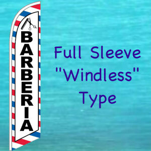 Barberia barber Windless Banner Flag Tall Advertising Sign Feather Swooper